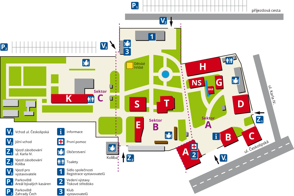 Mapa výstaviště